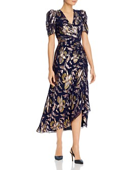 Shoshanna - Chloe Floral-Print Ruched Dress
