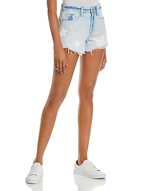 Blanknyc Star Applique Denim Shorts-Women
