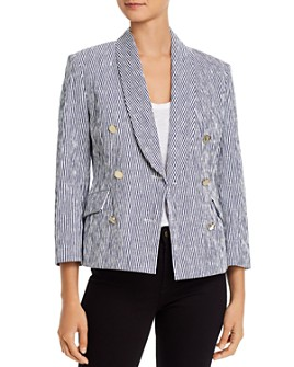 Derek Lam 10 Crosby - Myla Double-Breasted Cropped Blazer