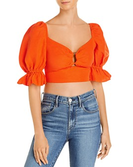 C/MEO Collective - Collective Early On Puffed Sleeve Cropped Top