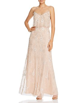 Adrianna Papell - Beaded Popover Gown