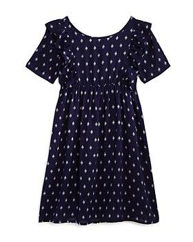 AQUA - Girls' Diamond-Print Shift Dress, Big Kid - 100% Exclusive