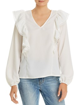 Vero Moda - Ruffled Lace-Trim Top