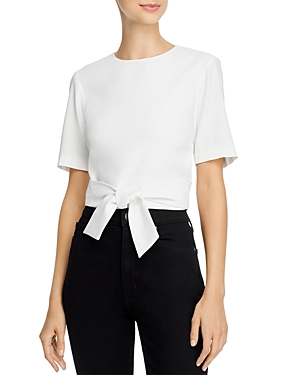 Alice and Olivia Sharla Cropped Tie-Waist Top-Women
