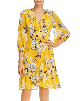 Adrianna Papell - Floral-Print Ruffled Dress - 100% Exclusive