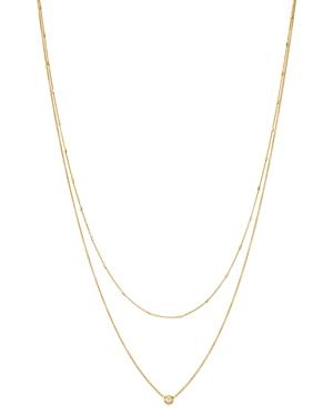 Zoe Chicco 14K Yellow Gold Diamond Double Chain Pendant Necklace-Jewelry & Accessories
