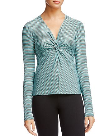 Bailey 44 - Ava Striped Knot-Front Top