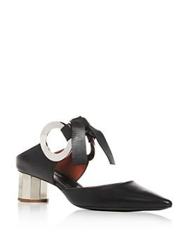 Proenza Schouler - Women's Pointed-Toe Block-Heel Mules