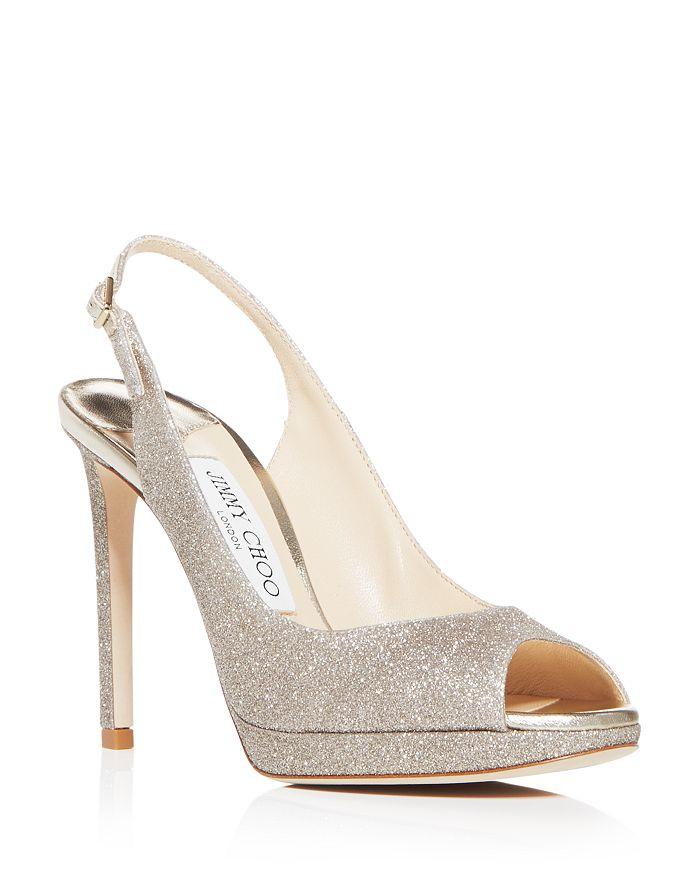 Jimmy Choo - Women's Nova 100 Glitter High-Heel Sandals