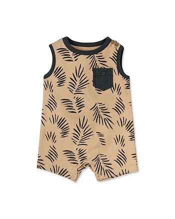 Oliver & Rain - Unisex Cotton Palm Print Knit Romper - Baby
