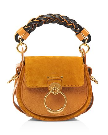 Chloé - Tess Small Braided Leather & Suede Shoulder Bag