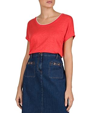 Gerard Darel Linen Jemma T-Shirt-Women