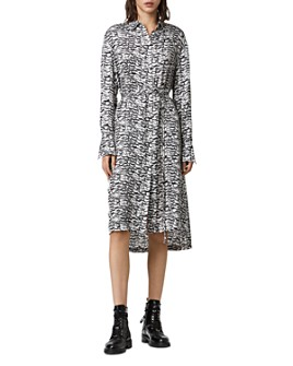 ALLSAINTS - Anya Printed Shirt Dress