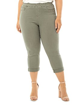 Liverpool Los Angeles Plus - Chloe Pull-On Cropped Jeans in Saguaro Palm