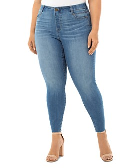 Liverpool Los Angeles Plus - Gia Glider Skinny Cut-Hem Jeans in Cape Town