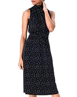 Leota - Aria Sleeveless Printed Mock-Neck Dress