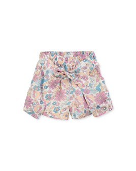 Chloé - Girls' Floral Tie-Front Shorts - Little Kid, Big Kid