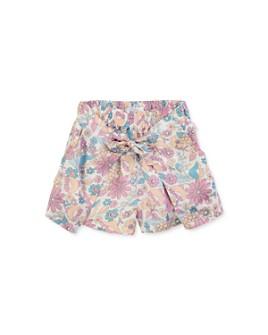 Chloé - Girls' Floral Tie-Front Shorts - Little Kid, Big Kid