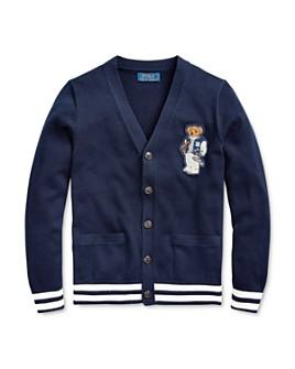 Ralph Lauren - Boys' Football Bear Cotton Cardigan - Big Kid