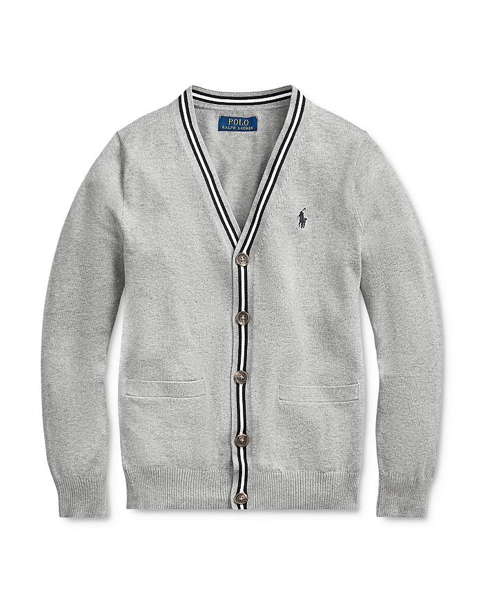 Ralph Lauren - Boys' V-Neck Cardigan, Big Kid - 100% Exclusive