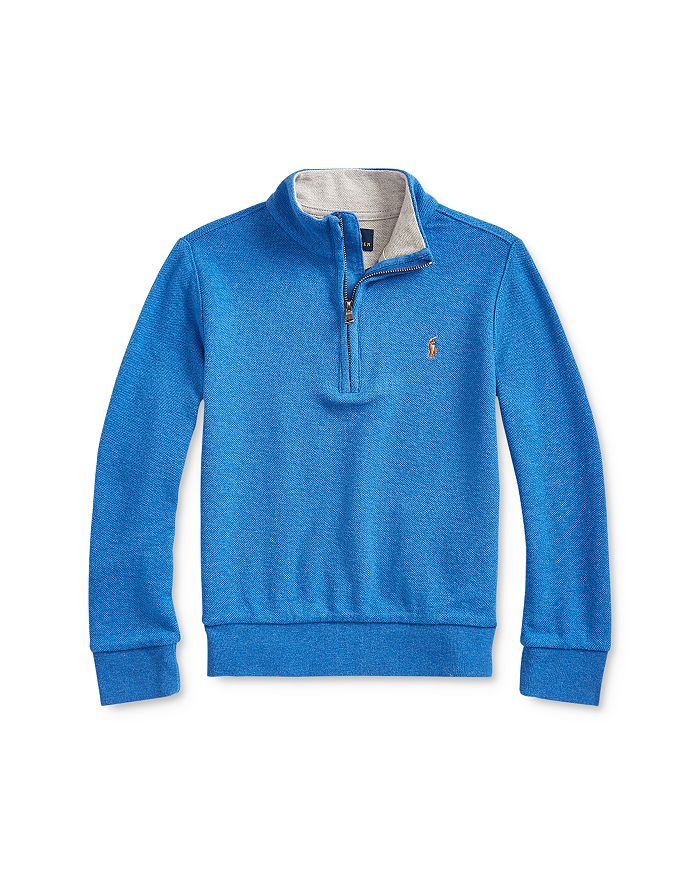 Ralph Lauren - Boys' Mesh Half-Zip Pullover Sweater - Little Kid