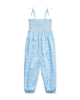 Ralph Lauren - Girls' Cotton Floral Smocked Romper - Little Kid