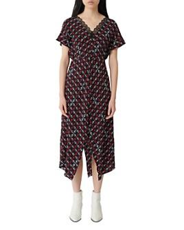 Maje - Rorsie Printed Midi Dress