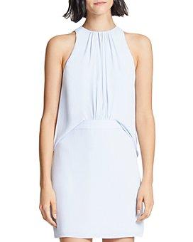 HALSTON - Shirred-Front Dress