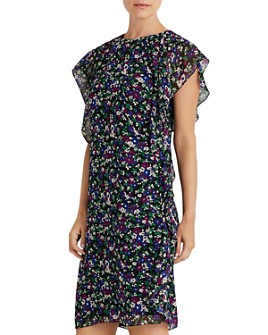 Ralph Lauren - Floral Print Georgette Shift Dress