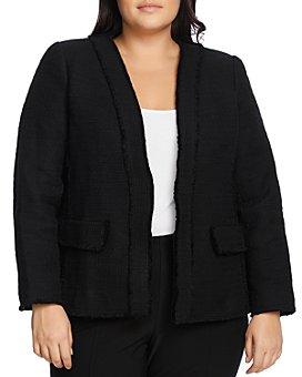 VINCE CAMUTO Plus - Tweed Open-Front Blazer