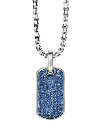 David Yurman - Streamline® Tag Pendant with Pavé Sapphires