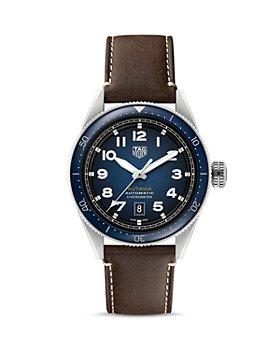 TAG Heuer - Autavia Calibre 5 COSC Men's Blue Leather Watch, 42mm