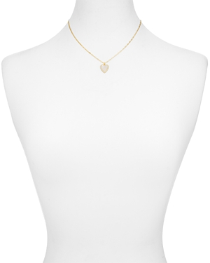 Argento Vivo Mother of Pearl Heart Pendant Necklace in 18K Gold-Plated Sterling Silver, 16