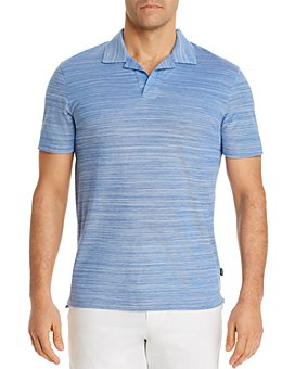 BOSS - Pye Cotton Two-Tone Optic Stripe Regular Fit Polo Shirt