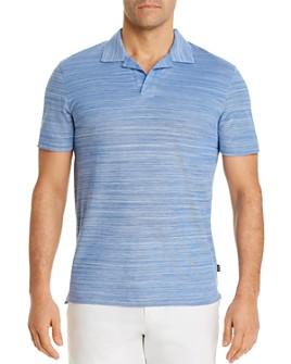 BOSS - Pye Cotton Two-Tone Optic Stripe Regular Fit Polo Shirt