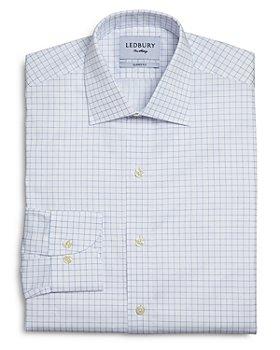 Ledbury - Carrington Windowpane Check Classic Fit Dress Shirt