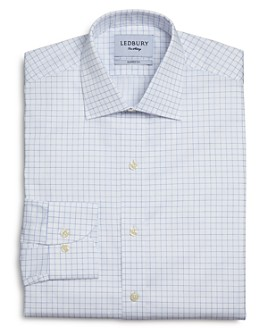 Ledbury - Carrington Windowpane Check Classic Fit Dress Shirt