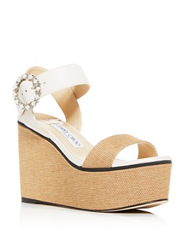 Jimmy Choo - Women's Abigail 100 Platform Wedge Sandals