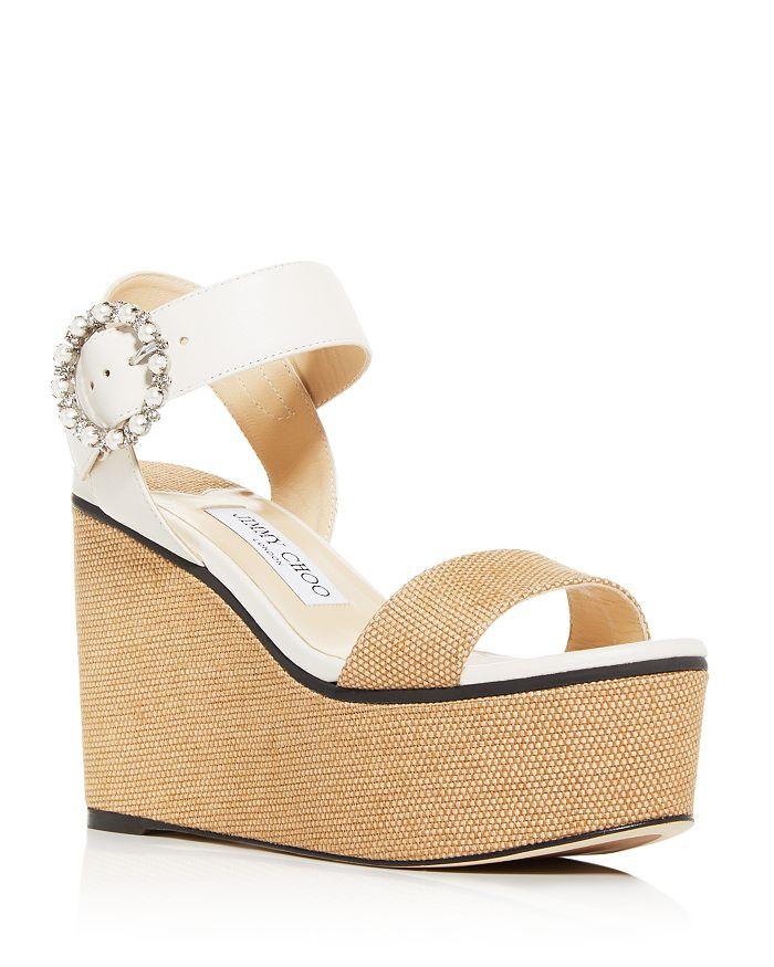 Jimmy Choo - Women's Abigail 100 Platform Wedge Sandals