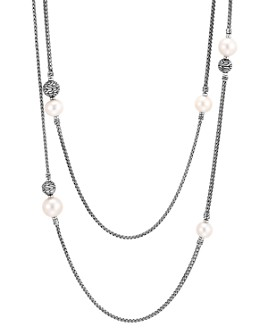 """JOHN HARDY - Sterling Silver Classic Chain Cultured Freshwater Pearl 72"""" Double-Row Sautoir Necklace"""