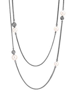 John Hardy Sterling Silver Classic Chain Cultured Freshwater Pearl 72 Double-Row Sautoir Necklace
