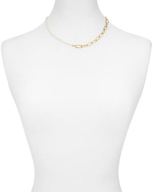 Aqua Chain & Simulated Pearl Necklace, 8 - 100% Exclusive