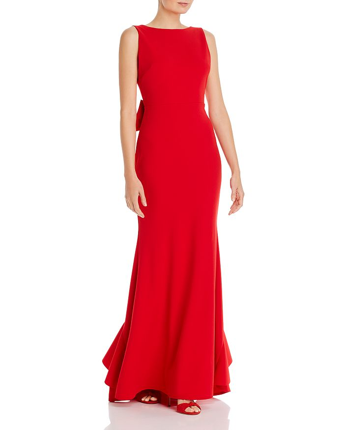 AQUA - Low Back Evening Gown - 100% Exclusive