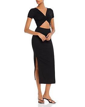 FORE - Rib-Knit Cutout Dress