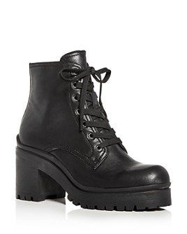 Jeffrey Campbell - Women's Scavenger Lace-Up Block-Heel Platform Booties