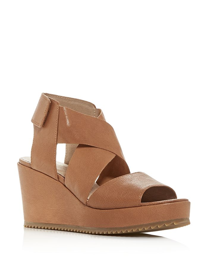 Eileen Fisher - Women's Whimsey Strappy Platform Wedge Sandals