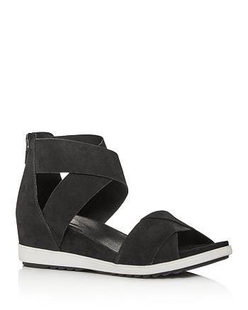 Eileen Fisher - Women's Viv Criss-Cross Wedge Sandals