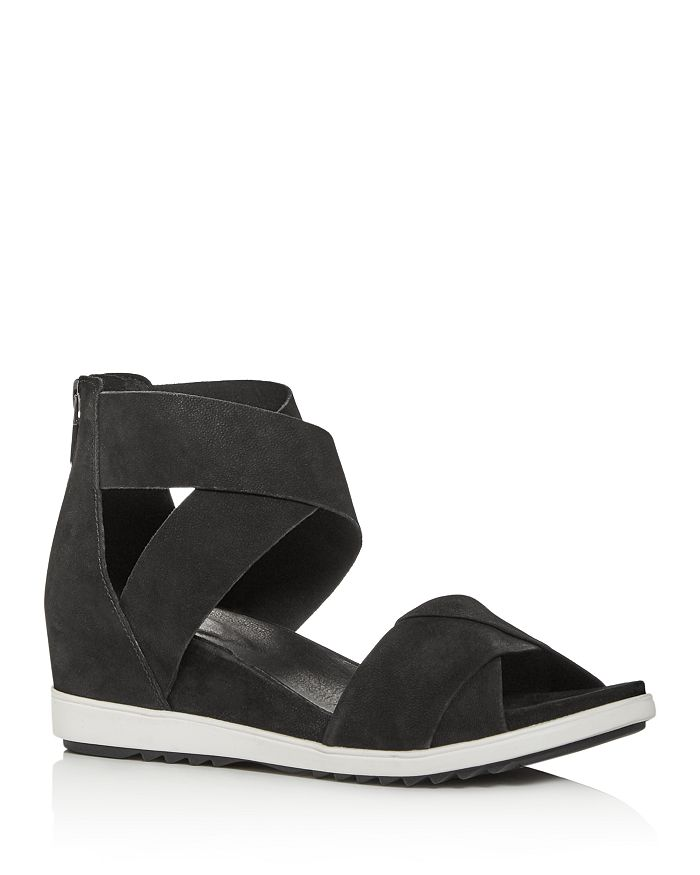 Eileen Fisher - Women's Viv Criss-Cross Wedge Sandals