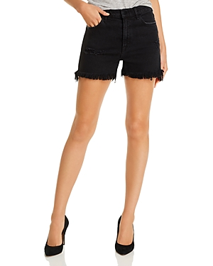 J Brand Jules Frayed Denim Shorts in Undercover Destruct-Women