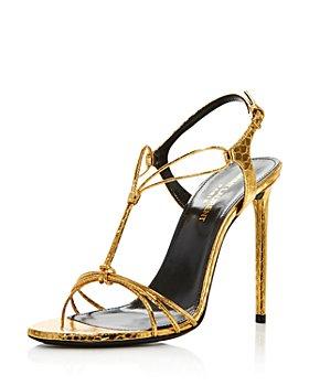 Saint Laurent - Women's Robin 105 Strappy Snakeskin Sandals